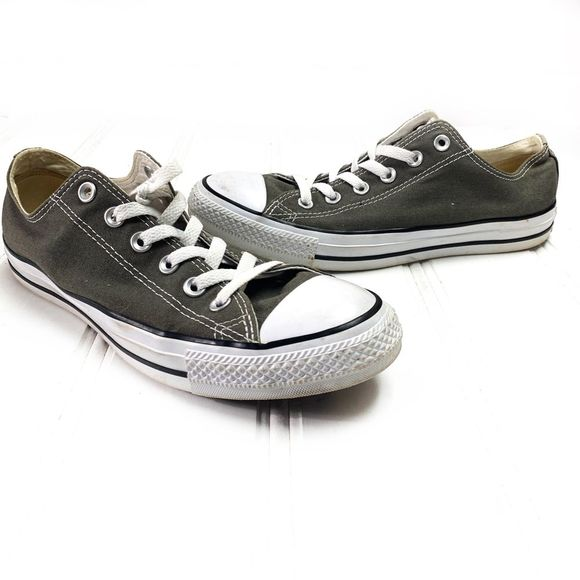 Converse All Star Chucks Gray Low Top Sneakers 8